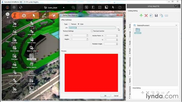 Creating a color-based material style: InfraWorks Essential Training