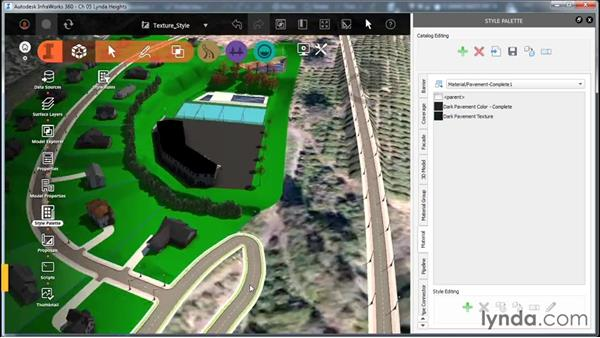 Creating a texture-based material style: InfraWorks Essential Training