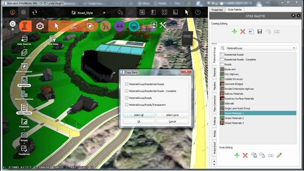 Creating a material group: InfraWorks Essential Training