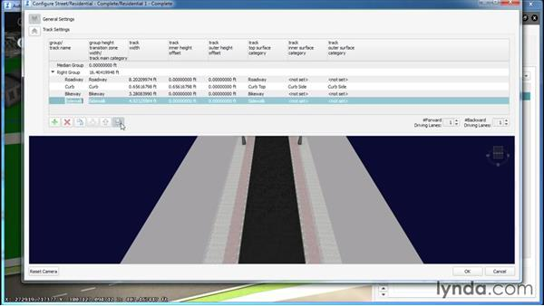 Configuring road style Track Settings: InfraWorks Essential Training