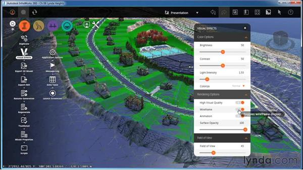 Working with Visual Effect settings: InfraWorks Essential Training