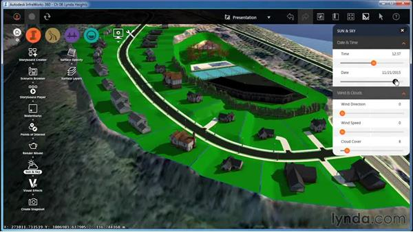 Working with Sun & Sky settings: InfraWorks Essential Training