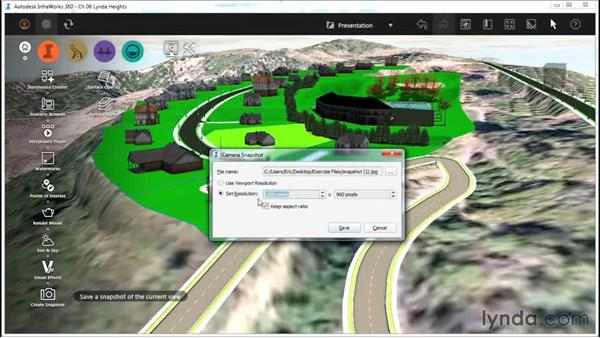 Creating a snapshot: InfraWorks Essential Training