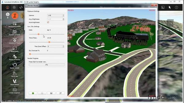 Rendering your model: InfraWorks Essential Training