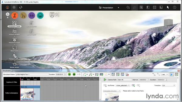 Creating a camera path animation: InfraWorks Essential Training