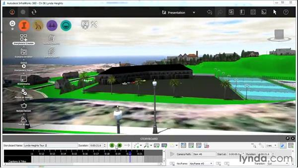Editing a camera path animation: InfraWorks Essential Training