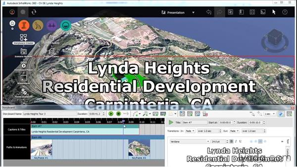 Adding titles and captions to your storyboard: InfraWorks Essential Training