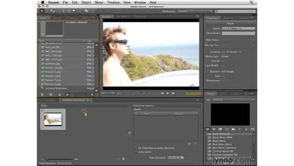 Introducing slideshows: Encore CS4 Essential Training