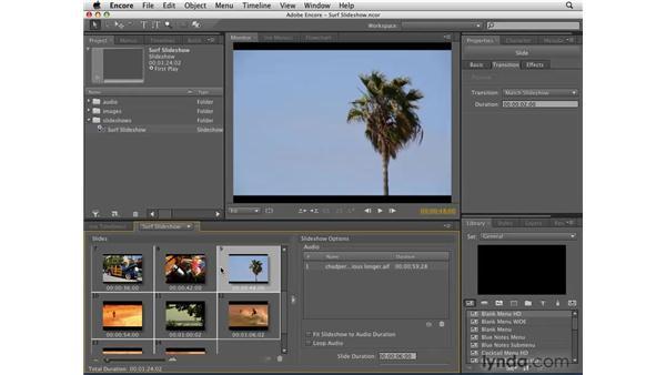 Slideshows and bit budgeting: Encore CS4 Essential Training