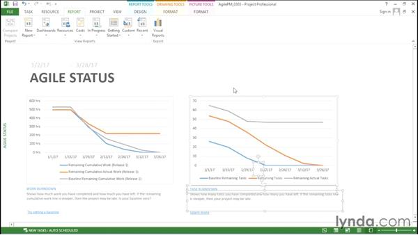 Generating a burndown report: Agile Project Management with Microsoft Project