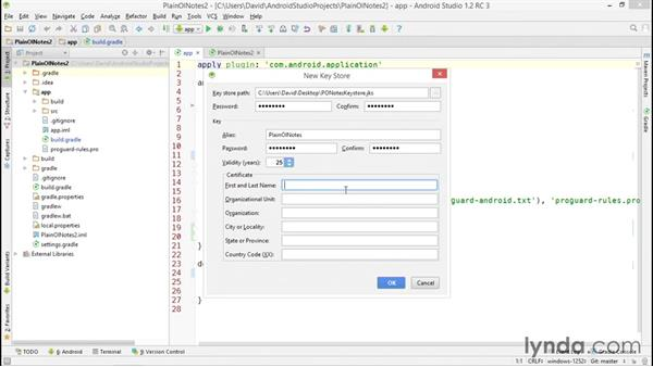 Generating a signed APK file: Distributing Android Apps