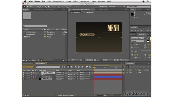 Making buttons and subpictures in After Effects: Encore CS4 Essential Training