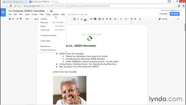Navigating the interface: Google Drive Essential Training (2015)