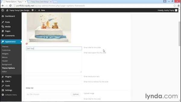 Adding a front page slider: WordPress DIY: Freelance/Independent Website