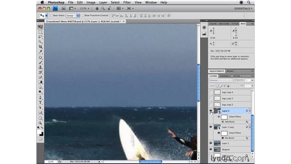 Creating a menu in Photoshop: Encore CS4 Essential Training