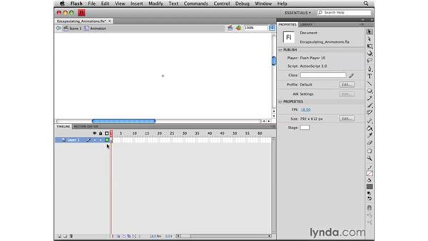 Encapsulating animations: Flash CS4 Professional Tools for Character Animation