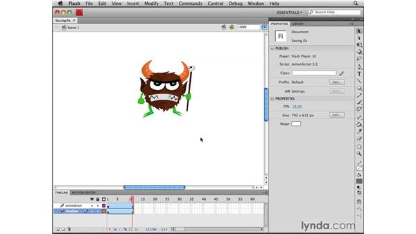Saving for previous versions of Flash: Flash CS4 Professional Tools for Character Animation