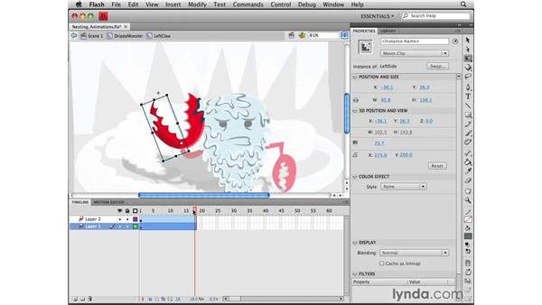Nesting animations: Flash CS4 Professional Tools for Character Animation