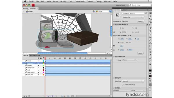 Using 3D layers: Flash CS4 Professional Tools for Character Animation