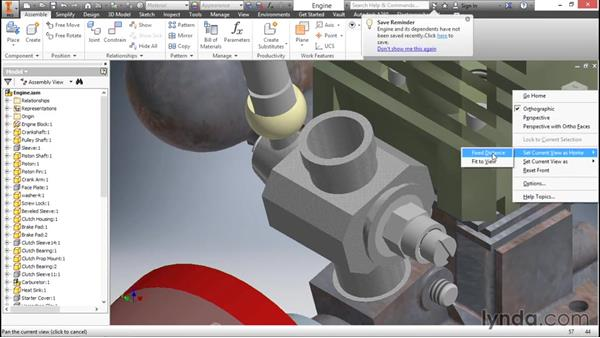 Navigating using the ViewCube: Inventor 2016 Essential Training