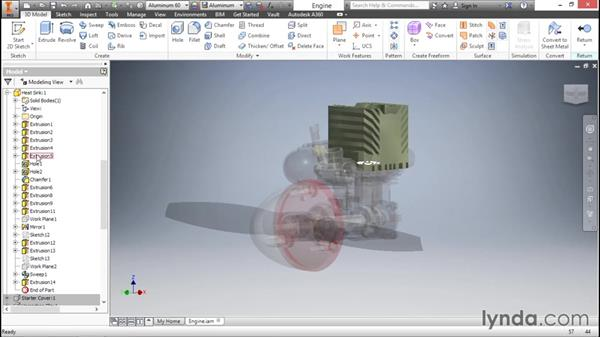 Using the ribbon bar: Inventor 2016 Essential Training