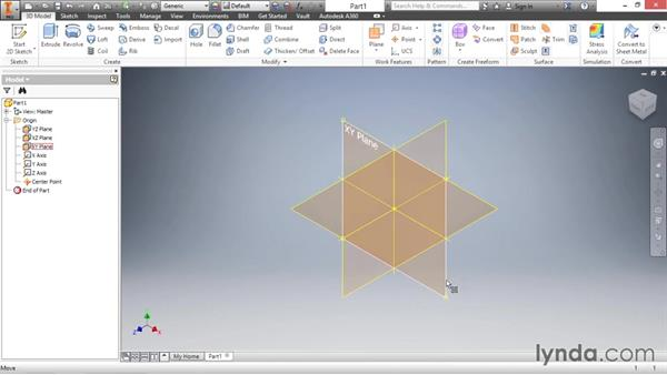 Working with origin geometry: Inventor 2016 Essential Training