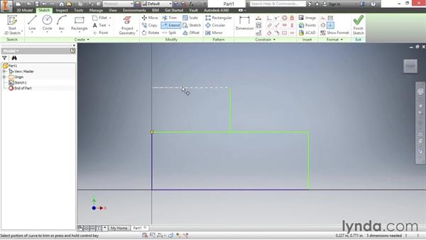 Understanding the trim, extend, and split tools: Inventor 2016 Essential Training