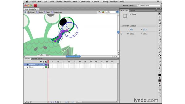 Adding bones to shapes: Flash CS4 Professional Tools for Character Animation