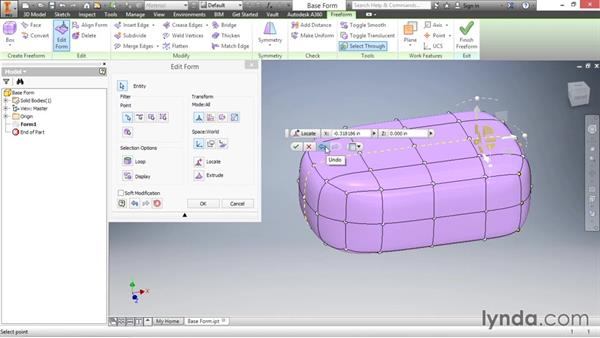 Understanding the Edit Form tool: Inventor 2016 Essential Training