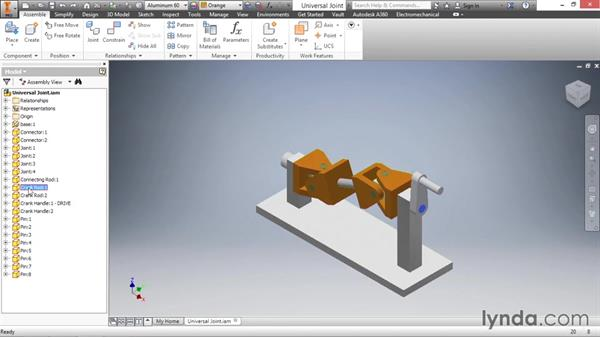 Introduction to assemblies: Inventor 2016 Essential Training