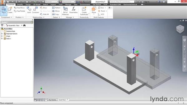 Placing components: Inventor 2016 Essential Training