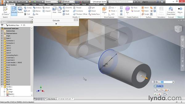 Creating/editing components in an assembly: Inventor 2016 Essential Training