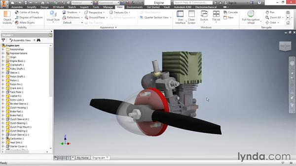 Enhancing the design experience with visual settings: Inventor 2016 Essential Training