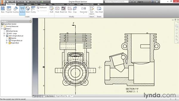 Creating section views: Inventor 2016 Essential Training