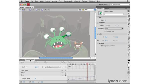 Animating masked content: Flash CS4 Professional Tools for Character Animation