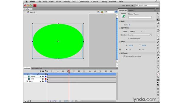 Creating an iris effect using masks: Flash CS4 Professional Tools for Character Animation