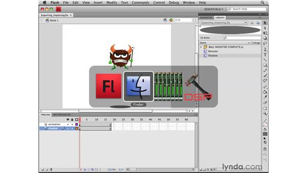 Exporting and importing motion presets: Flash CS4 Professional Tools for Character Animation