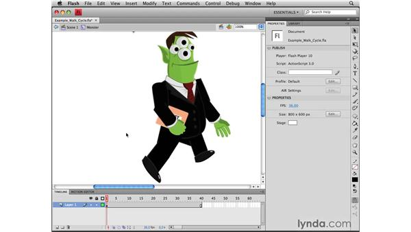 Understanding walk cycles: Flash CS4 Professional Tools for Character Animation