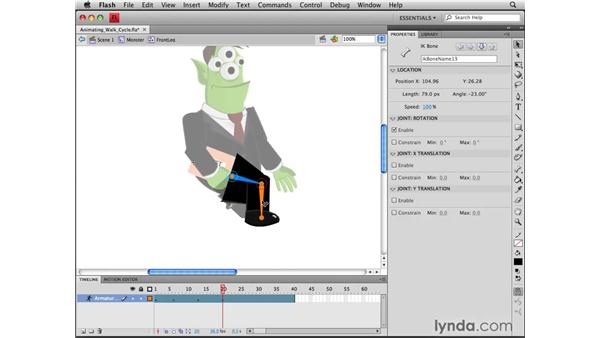 Creating a walk cycle: Flash CS4 Professional Tools for Character Animation