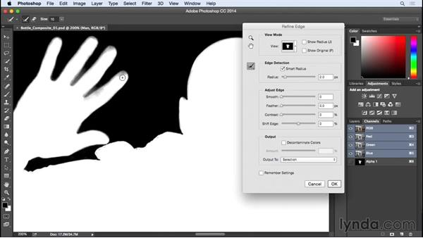 Perfecting the selection with Refine Edge: Photographing for Compositing in Photoshop