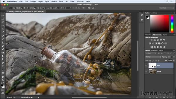 Using Smart Objects for nondestructive transformations: Photographing for Compositing in Photoshop
