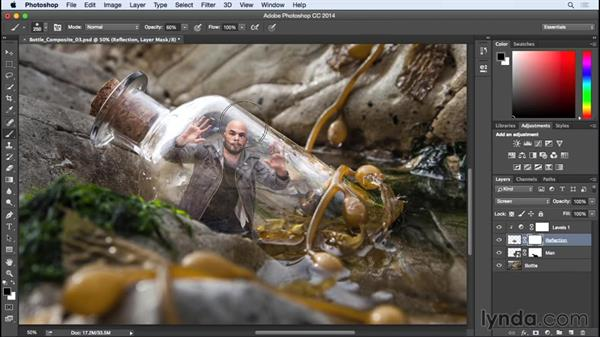 Refinements with blend modes and adjustment layers: Photographing for Compositing in Photoshop