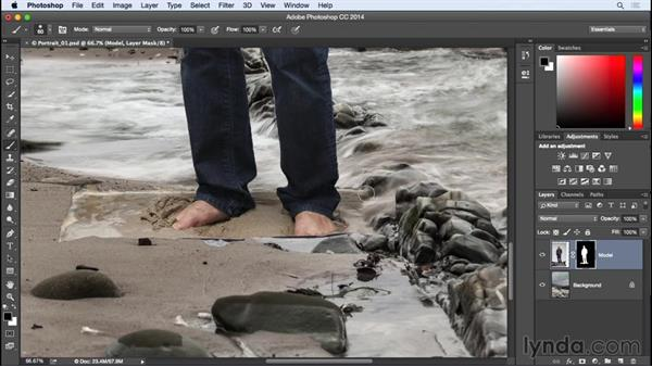 Editing a layer mask: Photographing for Compositing in Photoshop