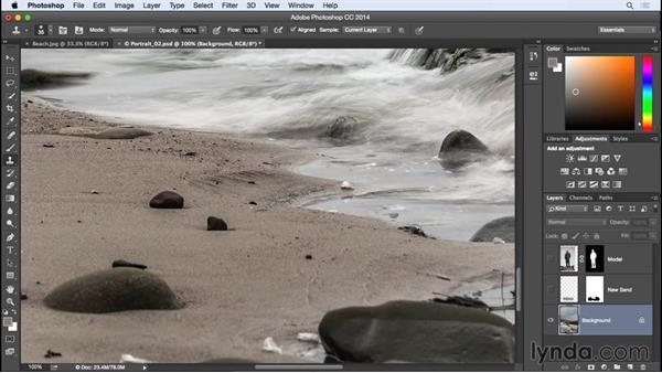 Adding sand detail from another image: Photographing for Compositing in Photoshop