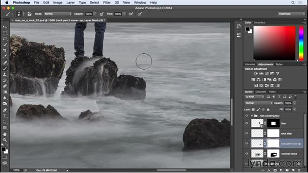 Final mask touch-ups: Photographing for Compositing in Photoshop