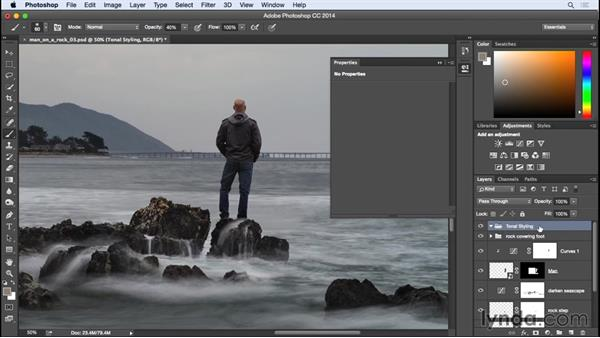Using adjustment layers to create tonal styling: Photographing for Compositing in Photoshop