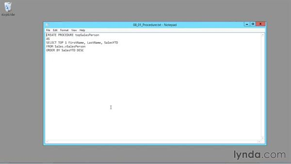 Using the exercise files: SQL Server 2014 Essential Training