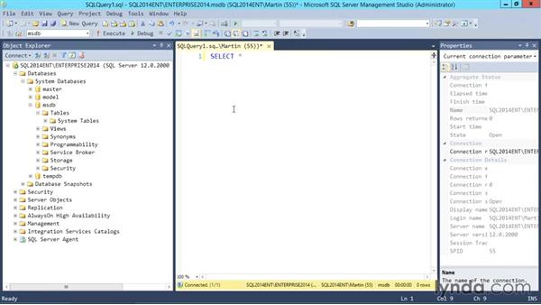 More about SQL Server Management Studio: SQL Server 2014 Essential Training