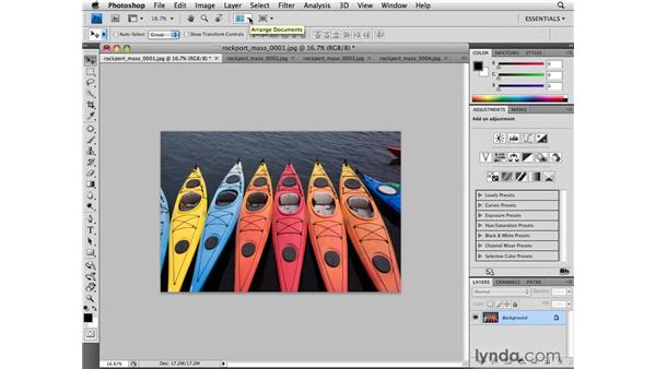 New ways of arranging documents: Photoshop CS4 for Photographers