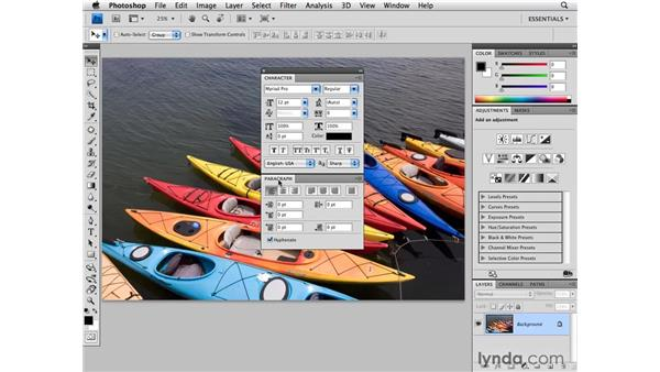 Working with the panels: Photoshop CS4 for Photographers